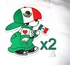 2 pack Mexican Flag Boy Magnets Fridge/Car/Locker UV protected Imán Bandera