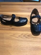 Hotter Hippy Size 7 Flat Black Leather Mary Jane Comfort Shoes
