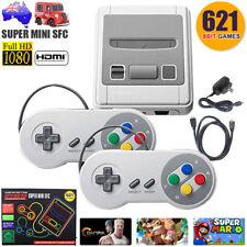Classic Super Nintendo Mini Game Console Built-in 621 Games TV AV HDMI Gamepads
