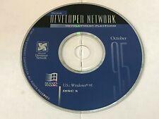 MICROSOFT WINDOWS 95 INSTALLATION CD DEVELOPER NETWORK OCTOBER 95 US Version
