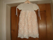 vintage fine hand crochet christening gown white never worn beautiful lined