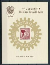 [105936] Chile 1960 Rotary conference Santiago Souv. Sheet in maroon MNH
