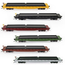 1pc HO Scale 52' Flat Car Flatbed 1:87 52ft Model Train Container Carriage