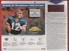 1994 Skybox Football Dealer Store Display w/Jim Kelly on Front- 8 & 1/2 x 11