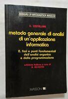 BOOK METODO GENERALE DI ANALISI DI UN'APPLICAZIONE INFORMATICA 8821405923