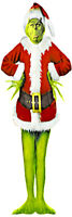 LIFE SIZE THE GRINCH AS SANTA CLAUS STOLE CHRISTMAS CANVAS POSTER 72X24 INCHES