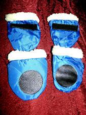 New listing New Blue Medium Dog Waterproof Protective Anti-Slip Woof Boots/Shoes #130 Pet
