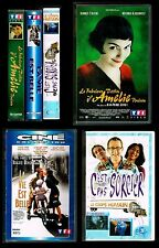 LOT 3 K7 VHS LE FABULEUX DESTIN D'AMELIE.LA VIE EST BELLE.C'EST PAS SORCIER