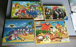 Lotto 4 Puzzle Clementoni Disney Mosaico Topolino Paperino Disneyland Pinocchio