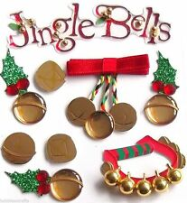 JOLEE'S BOUTIQUE JINGLE BELLS DIMENSIONAL STICKERS  BNIP