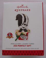 Hallmark 2013 Looney Tunes Pepe Le Pew Zee Perfect Gift Christmas Ornament