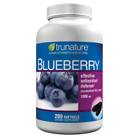 trunature Blueberry Extract 1000 mg, 200 Softgels FREE SHIPPING!!!!!!!!!!!!!!!!!