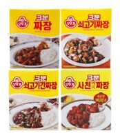 Korean Instant Black Bean Sauce OTTOGI 3MINUTES JJAJANG Series Retort Fast Food