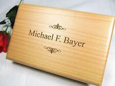 Personalized Engraved Valet Box Groomsman Groomsmen Gifts Keepsake Pinstripes