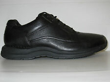 ROCKPORT EDGE HILL BLACK LEATHER COMFORT WALKING SHOES MEN WIDE 9.5 / 9 / 43