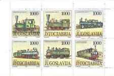 Timbres en carnet Trains Yougoslavie 2412/7 ** lot 24757 - cote : 18 €