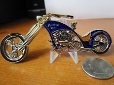 Navy Chief Navy Pride CPO USN Chopper Motorcycle Serialized # Challenge Coin