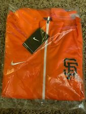 NEW NIKE San Francisco SF GIANTS Womens MLB Baseball Track Jacket M ORANGE