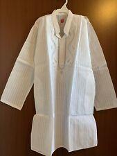 Lucknowi Chikankari White Kurta Pajama Set Cotton Boys Sz 8-9 Yr Old