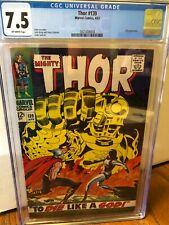 Thor #139  Marvel 1967  CGC 7.5  Class Silver Age Jack Kirby!!!!!!!