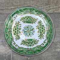 Antique Chinese Export Fitzhugh Green Porcelain 19th Century Design Butter Dish