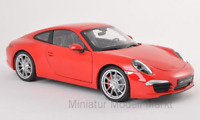 #18047 - Welly Porsche 911 (991) Carrera S - rot - 1:18