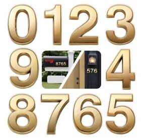 Self Adhesive Gold Door Numbers Address Stickers for Mailbox Apartment Outdoor