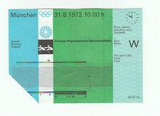 Orig. Billet Jeux Olympiques Munich 1972-Aviron 31.08. RARE!!!
