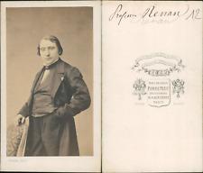 Renan CDV vintage albumen, Joseph Ernest Renan, né le 28 février 18231 à Tréguie