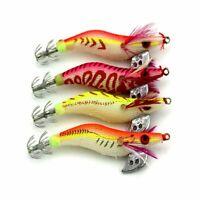 de pesca Camarones de señuelos de madera Pulpo de cebo Gancho de calamar