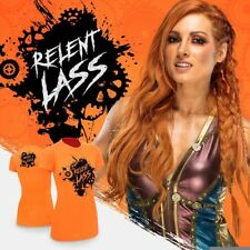 *NEW* Becky Lynch Relent-Lass Womens Shirt, Orange