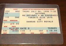 1987 - 2000 Toronto Blue Jays ticket stubs U-pick George Brett Puckett  Yount