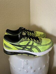 Asics Gel-Nimbus 21 Running Neon Yellow Black Sneaker Shoes Mens Sz 12 1011A169