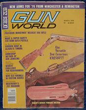 Vintage Magazine GUN WORLD March 1976 !!! Custom BLADES of DAMASCUS STEEL !!!