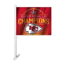 Super Bowl 54 Champions Kansas City Chiefs Double Sided Car Flag