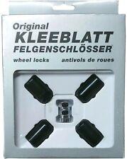 Original KLEEBLATT Felgenschlösser Felgenschloss schwarz 4x M14x1,5 Kugelbund