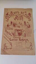 Les leçons de piano - Lucien Boyer/Mayol - C. Joubert Editeur (1911)