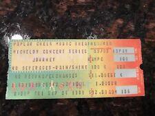 JOURNEY CONCERT TICKET STUB - POPLAR CREEK MUSIC THEATER (CHICAGO) - 9-4-1981