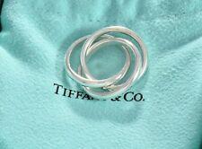 Tiffany & Co Sterling Silver Triple Interlocking Ring Size 9 Three Circles Rare