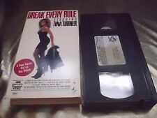 RAR! VHS-CASSETTA Tina Turner Break every Rule 1986