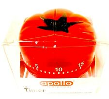 Apollo Tomato Shaped Kitchen Timer Assorted Colours 7Cm Kitchen Utility New