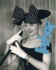 Rare MARTHA HYER photo Hollywood Glamour Gorgeous Sexy Blonde Fancy Hat Gloves