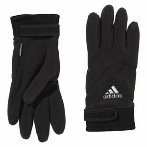 Adidas Climawarm Hollow Black Winter Fleece Knit Mens Gloves G70716