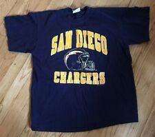 Vintage San Diego Los Angeles Chargers Bike T-Shirt Men's L Large NFL 1990's