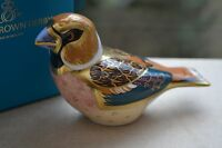 """Royal Crown Derby Paperweights  """"HAWFINCH"""" 1st Quality & Original Box  BRAND NEW"""