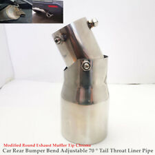 Car Rear Bumper Adjustable Tail Throat Pipe Modified Round Exhaust Muffler Tip