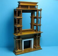 Dollhouse Miniature Victorian Fireplace with Mirror and Shelves ~ T6510