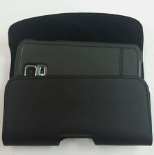 LEATHER BELT CLIP HOLSTER FOR SONY XPERIA C4 FITS BODY GLOVE SHOCKSUI
