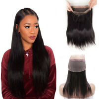 Virgin Cuticle Aligned Raw Indian Human Hair Transparent Silk 360 Lace Frontal