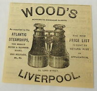 1884 magazine engraving ~ Wood's Liverpool Binoculars